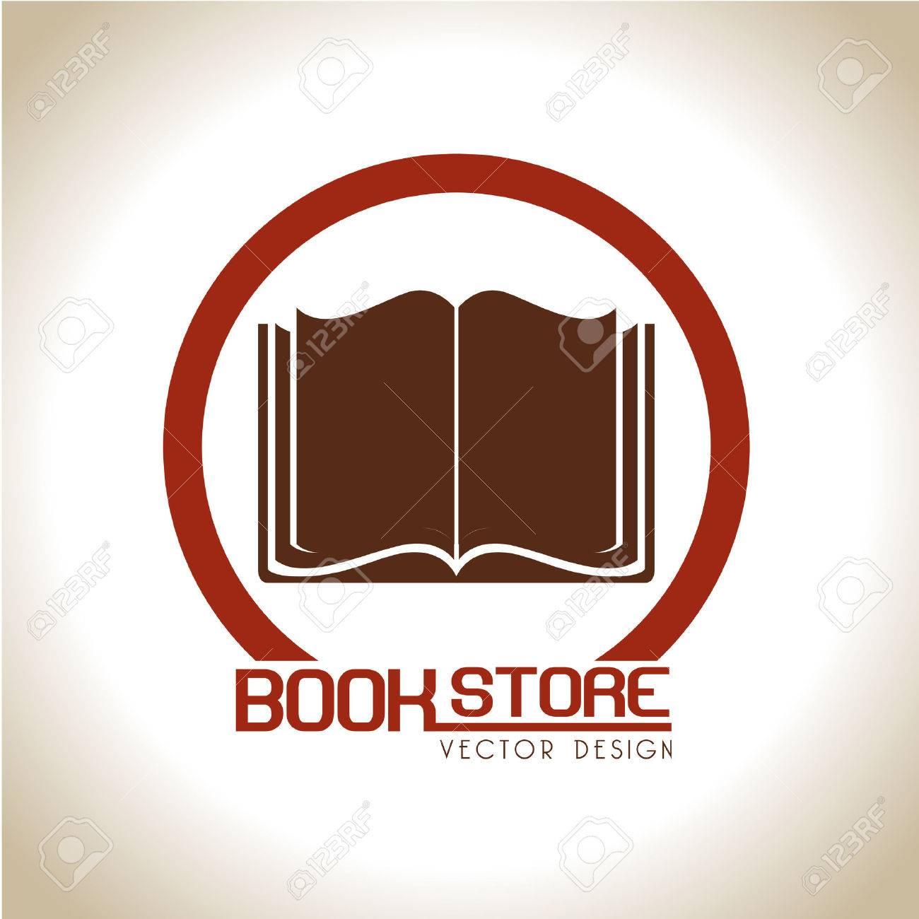 book store over beige background vector illustration Stock Vector - 22333978