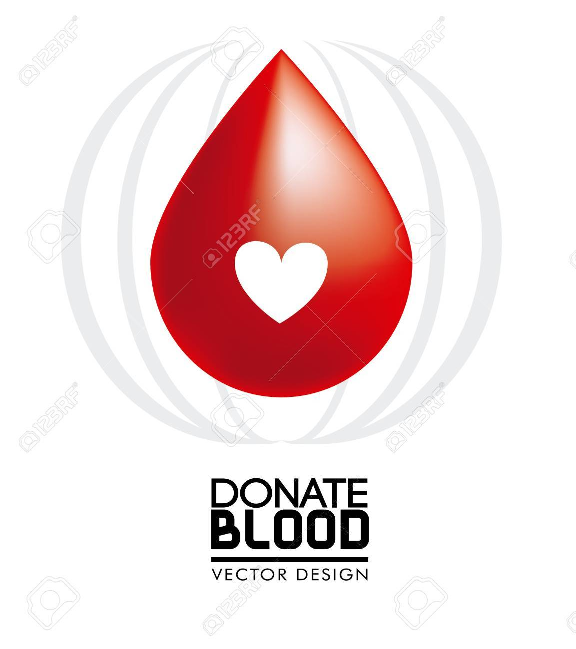 donate blood over white background vector illustration Stock Vector - 22334891