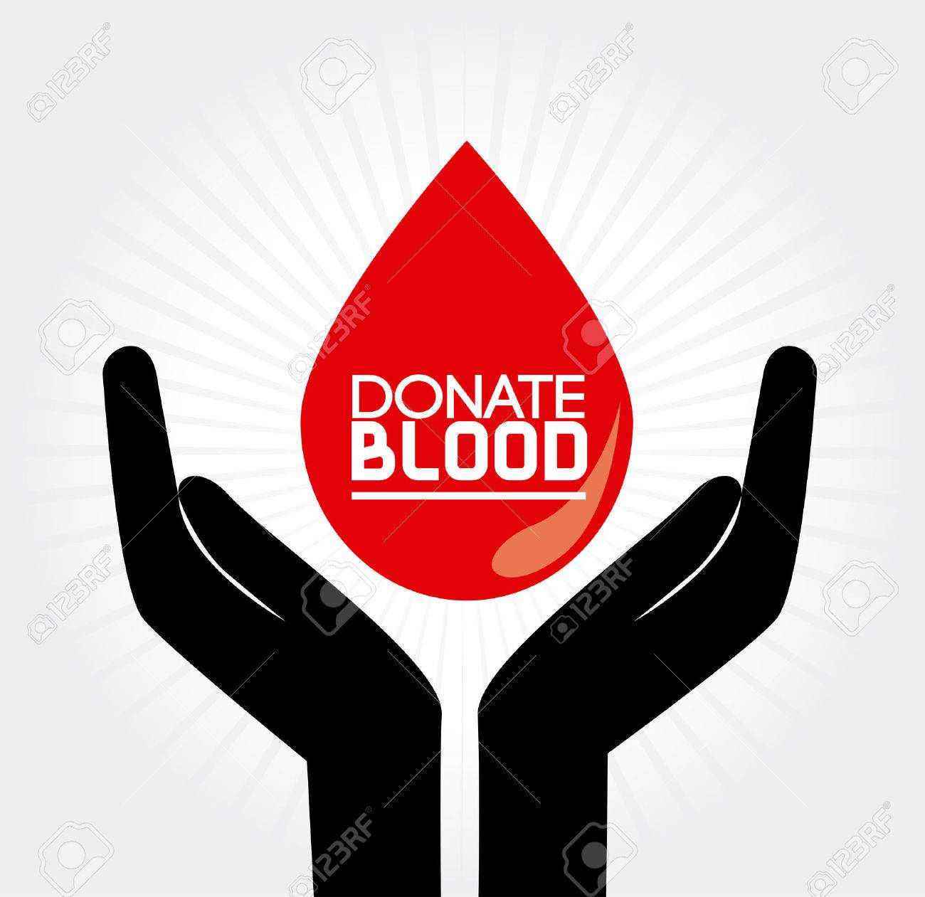 donate blood over  gray background vector illustration Stock Vector - 22334887