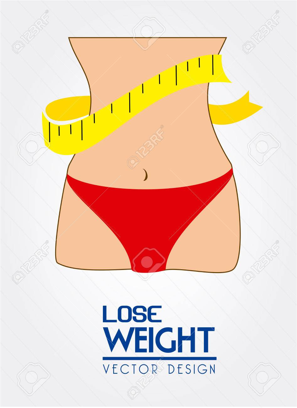 lose weight design over white background vector illustration Stock Vector - 22335076
