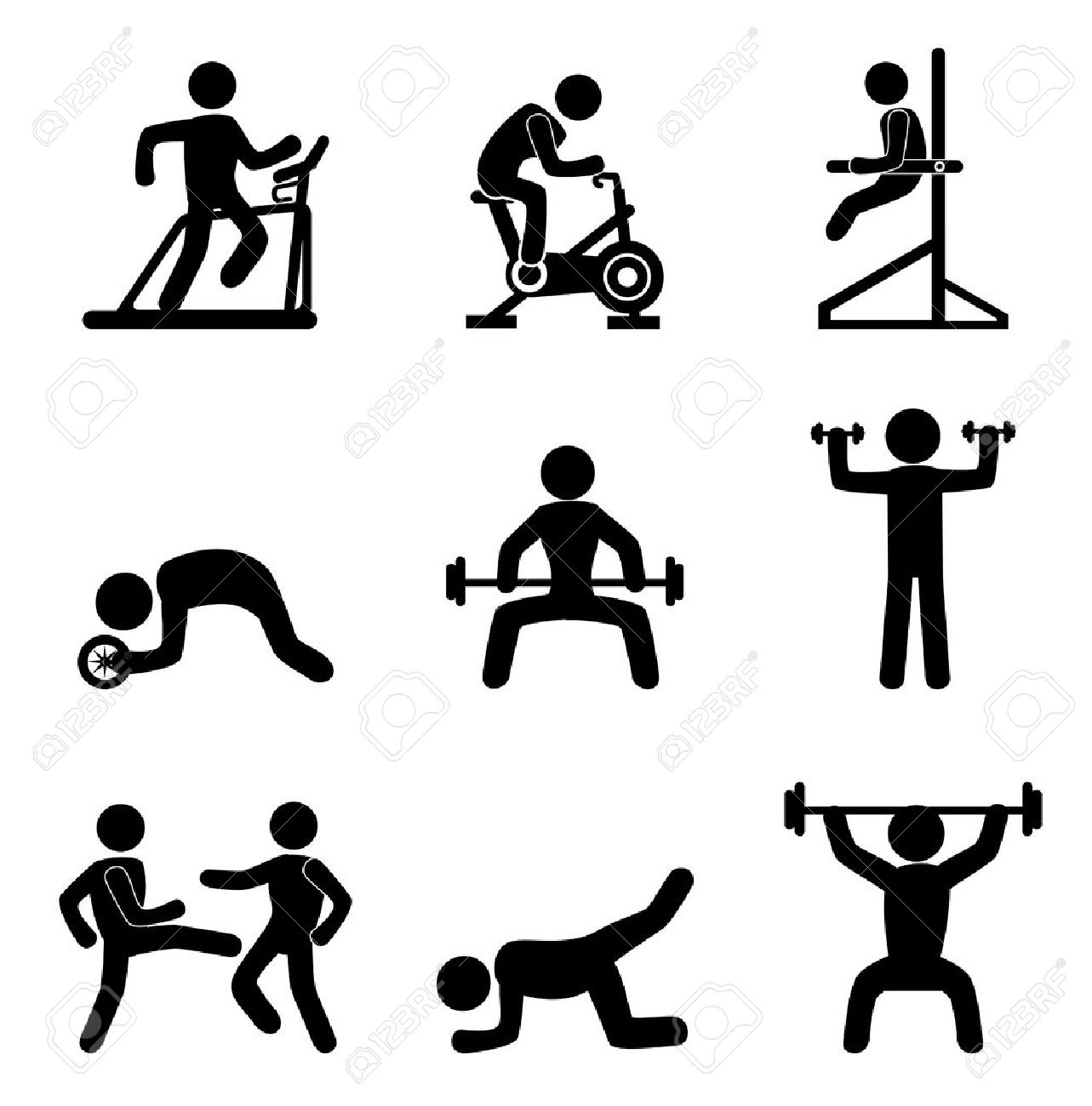 245 940 fitness stock illustrations cliparts and royalty free