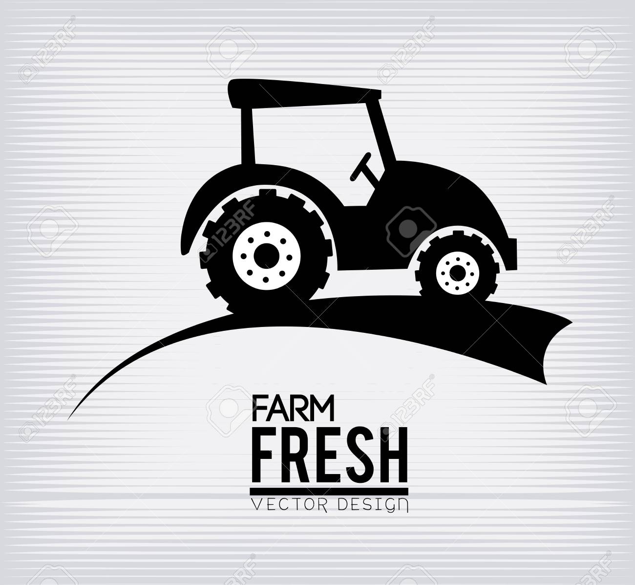 farm fresh label over white background vector illustration Stock Vector - 22453148