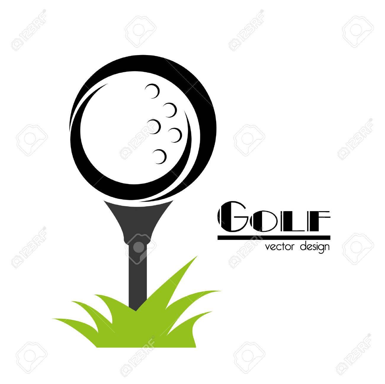 golf design over white background vector illustration - 22453229