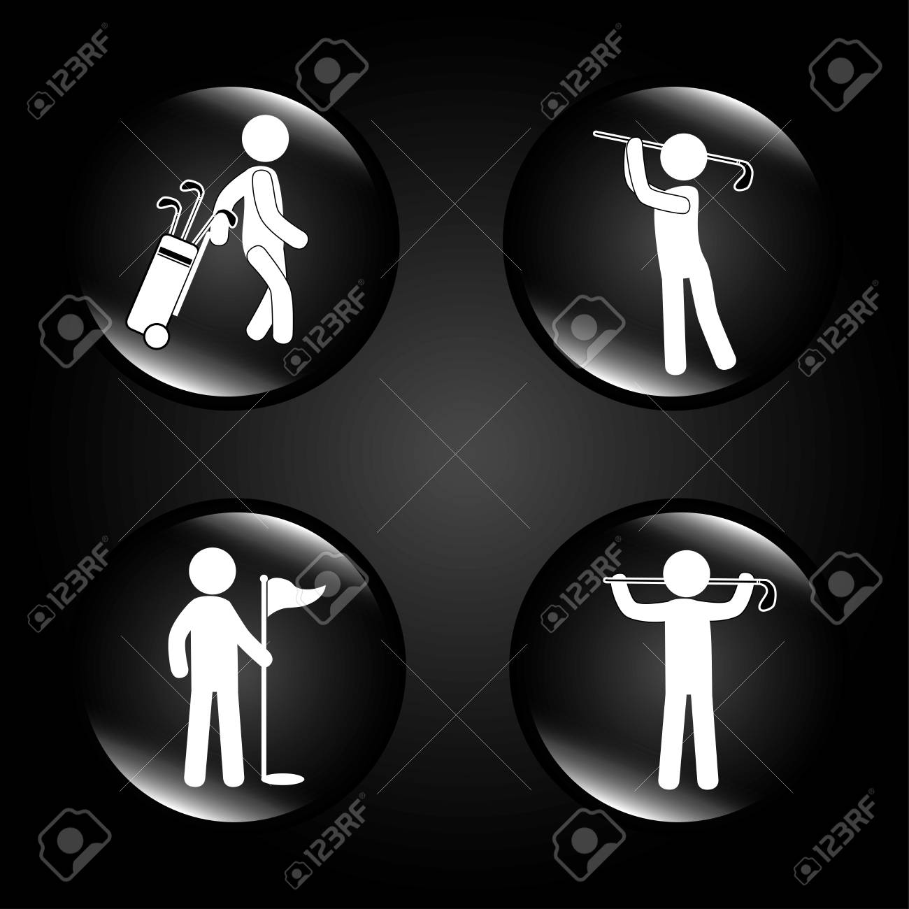 golf design over black background vector illustration Stock Vector - 22453240