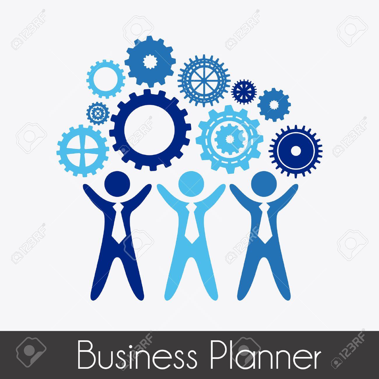 business planner over gray background vector illustration Stock Vector - 22464897