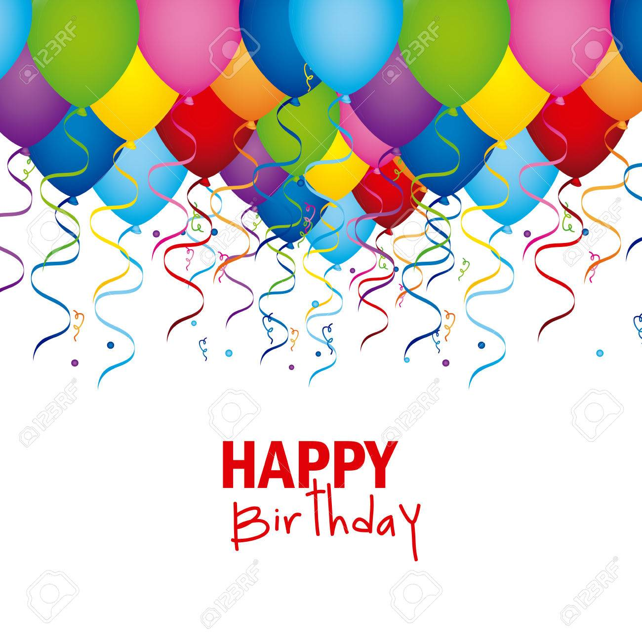 Happy Birthday Design Over White Background Vector Illustration ...