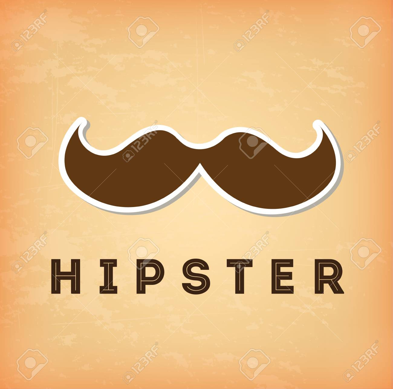 hipster design over cream background vector  illustration Stock Vector - 22959660