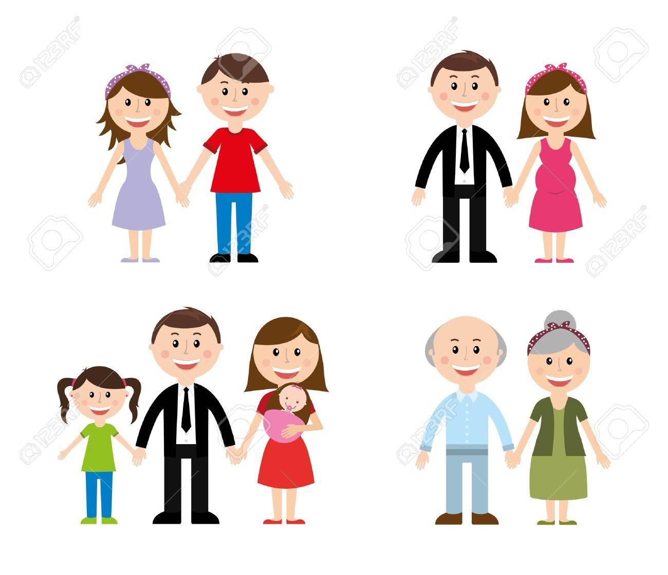 family design over white background vector illustration - 23234586