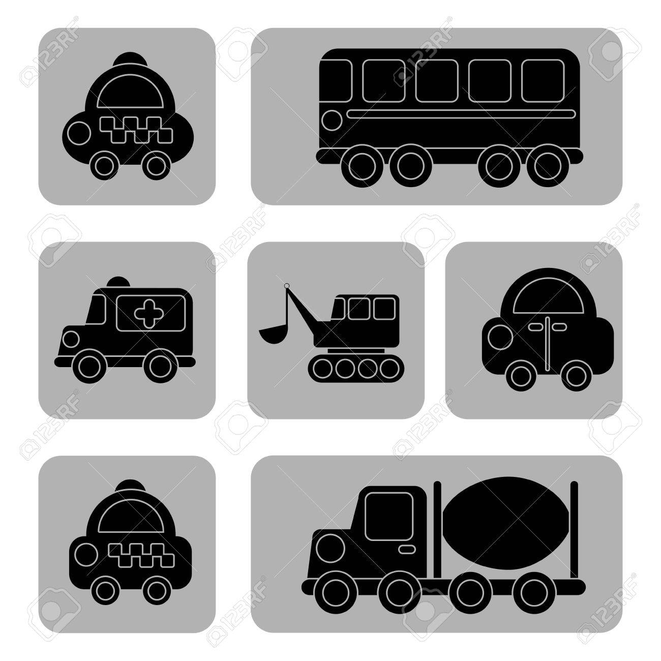 transport design over white background vector illustration Stock Vector - 23539567