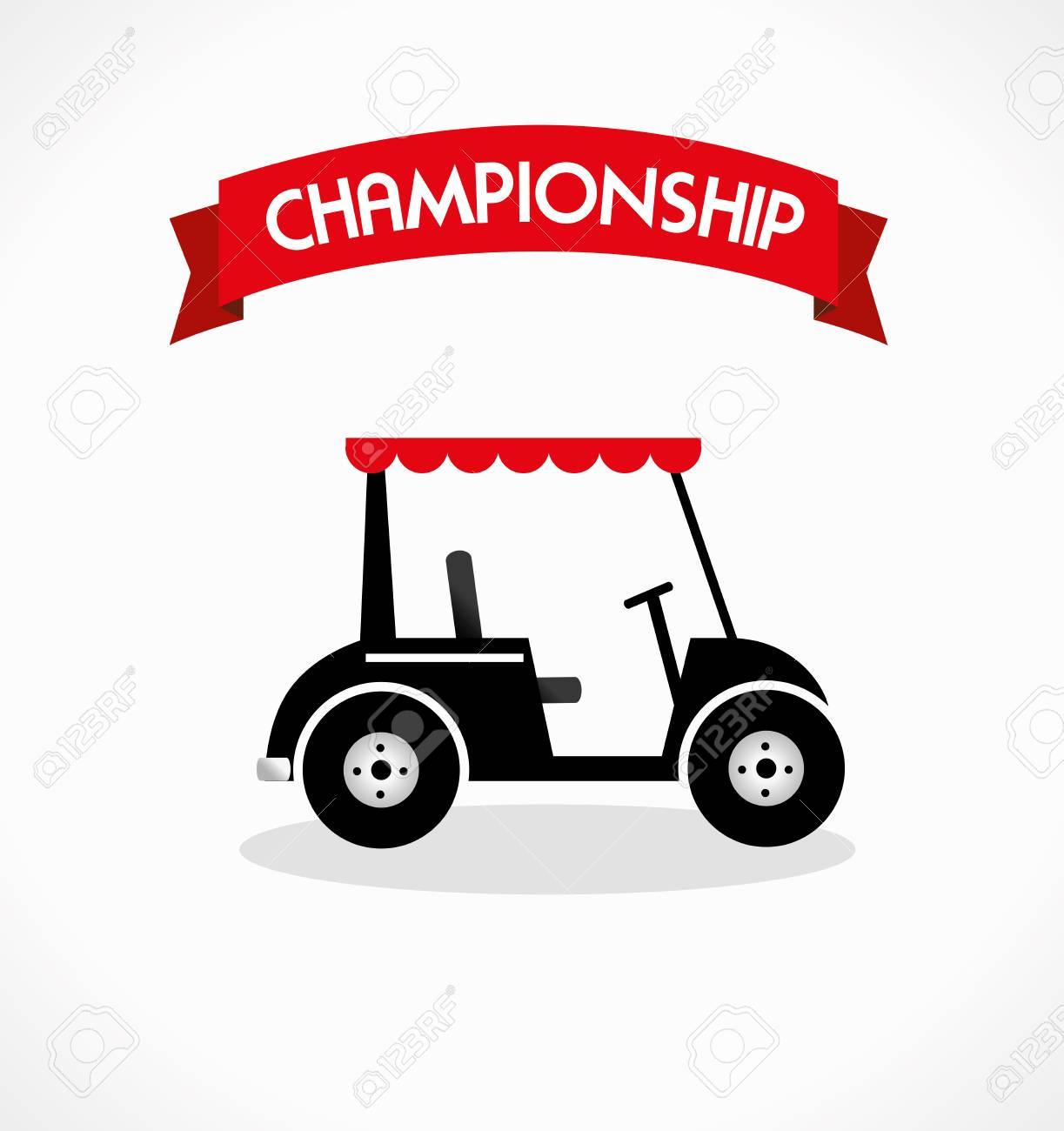 golf design over white  background vector illustration Stock Vector - 23762528