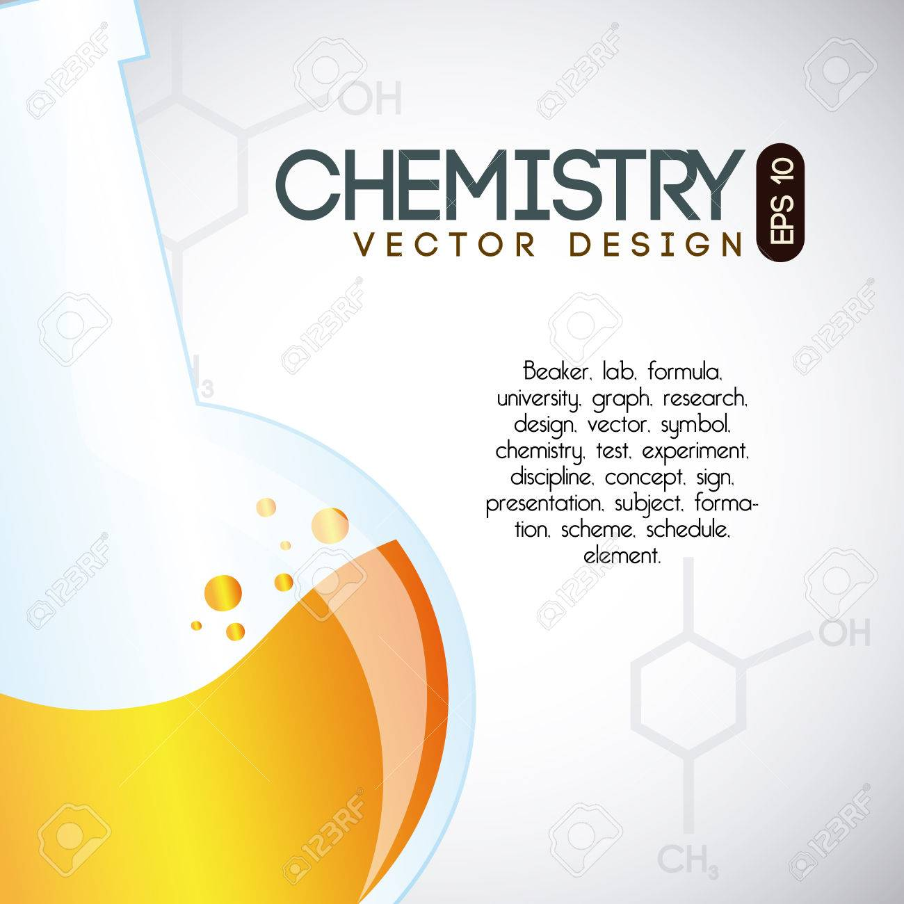 chemistry over gray background vector illustration Stock Vector - 23762602