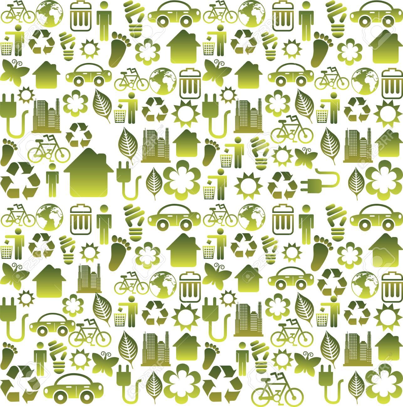 eco design over white background vector illustration Stock Vector - 24071139