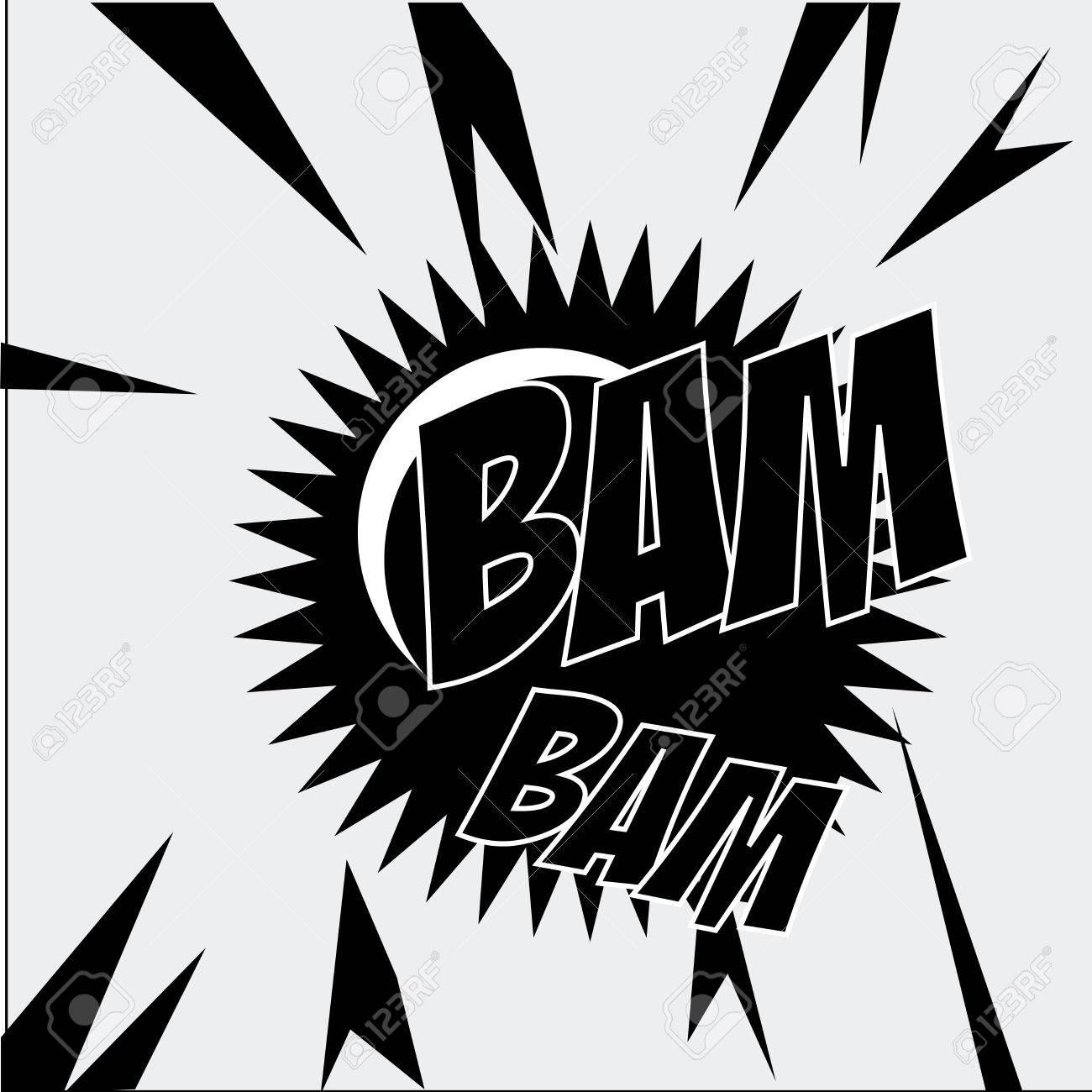 bam bam comic over gray background vector illustration Stock Vector - 24070674
