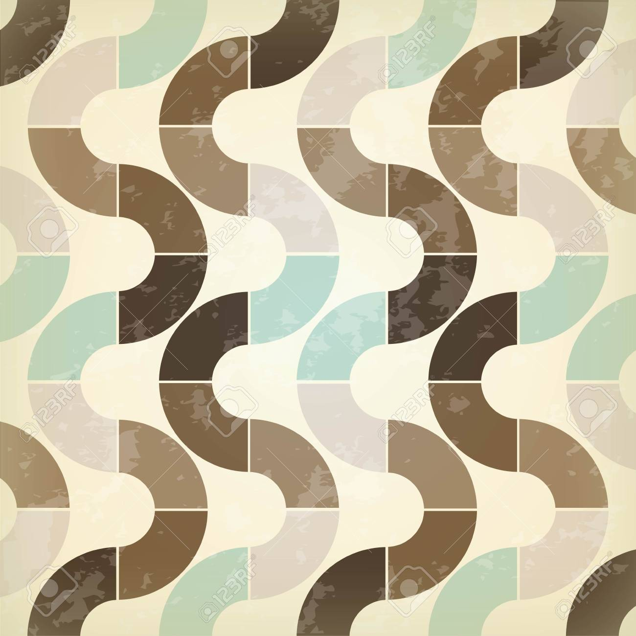 retro label over pattern background vector illustration Stock Vector - 24318574