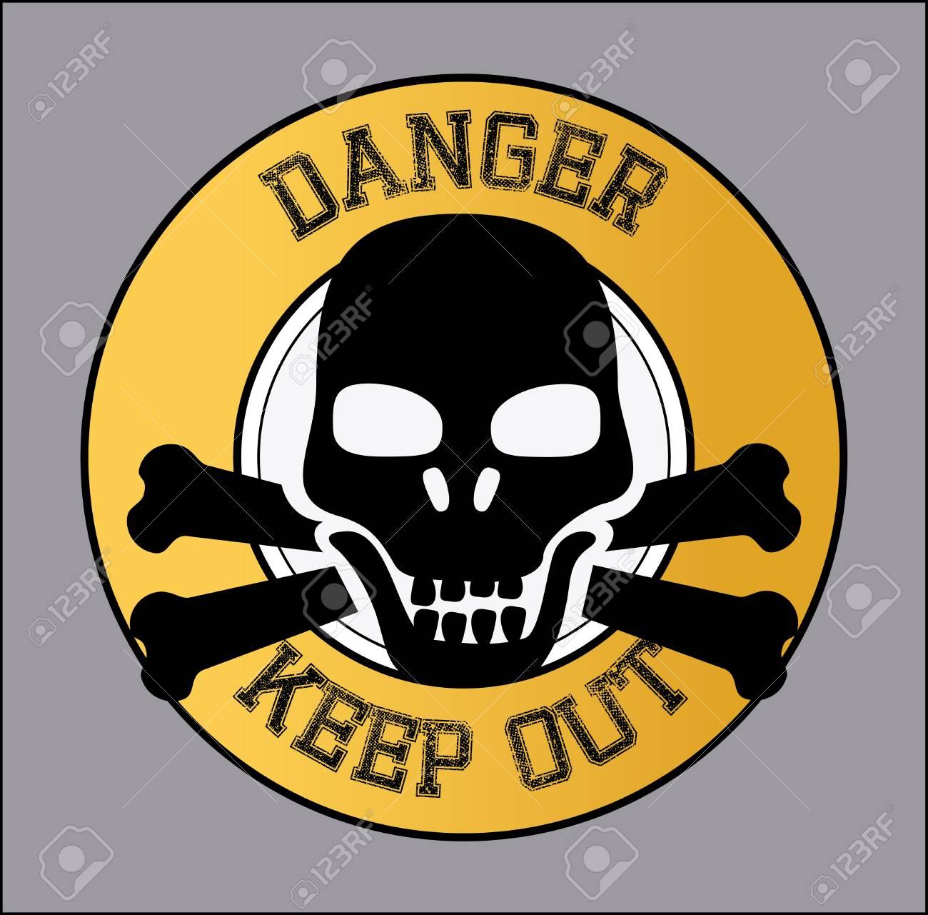 danger design over gray  background vector illustration Stock Vector - 24318926
