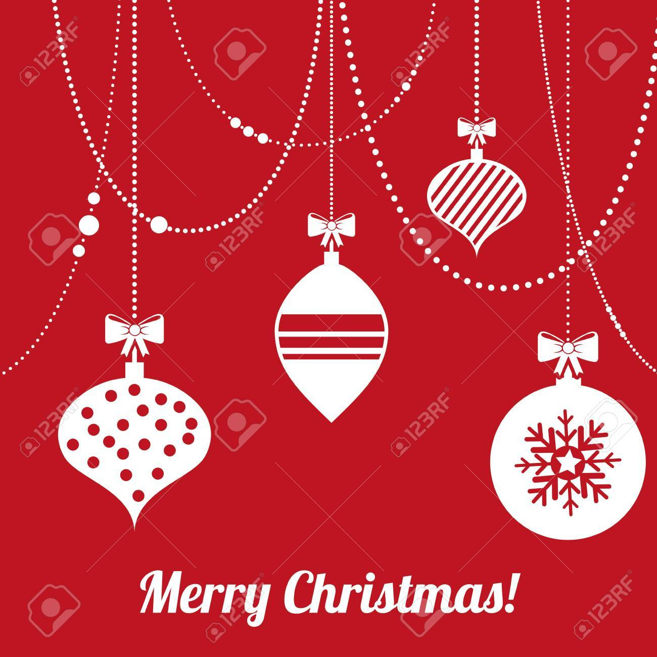 christmas design over red  background vector illustration Stock Vector - 24613027