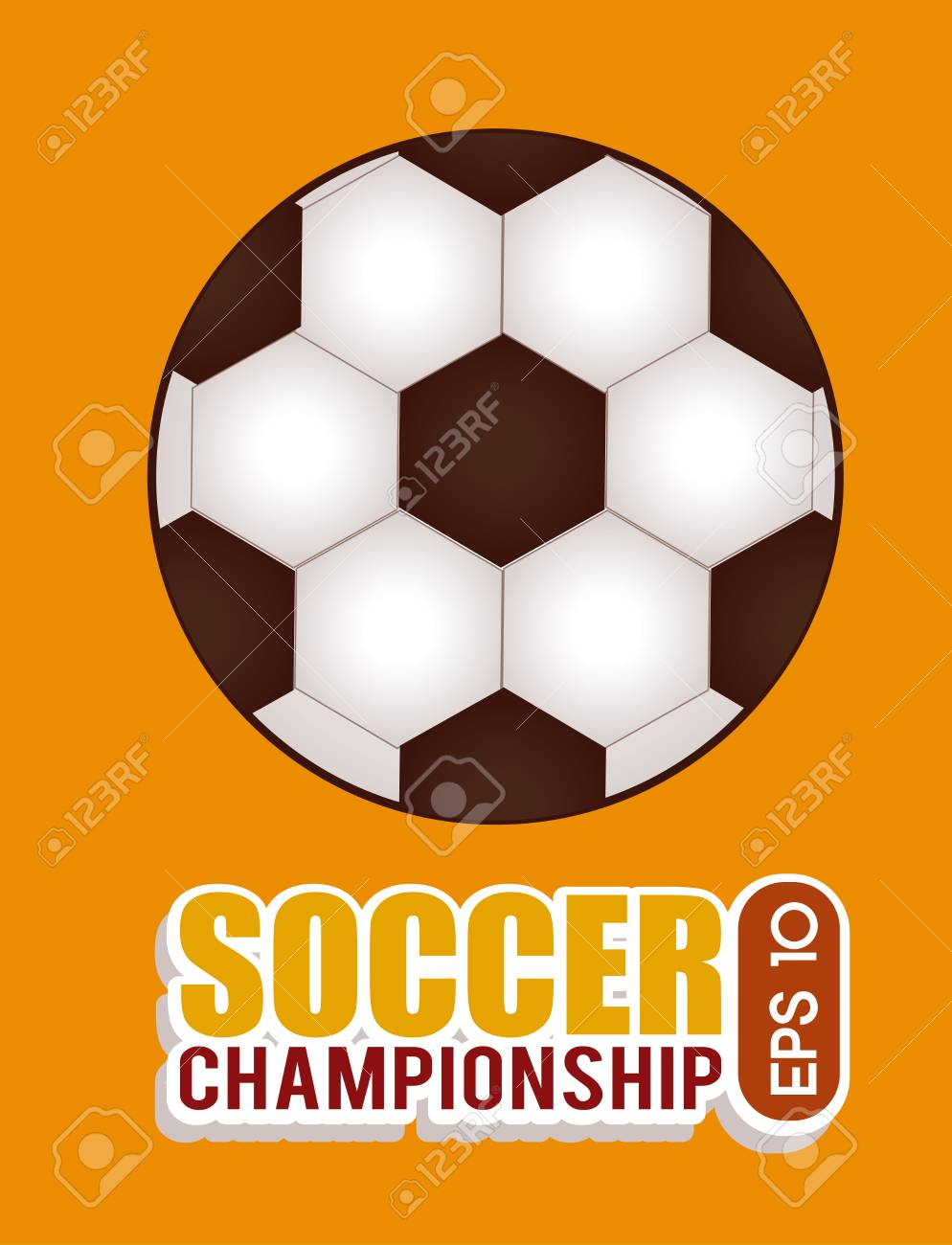 soccer design over orange   background  vector illustration Stock Vector - 24963994