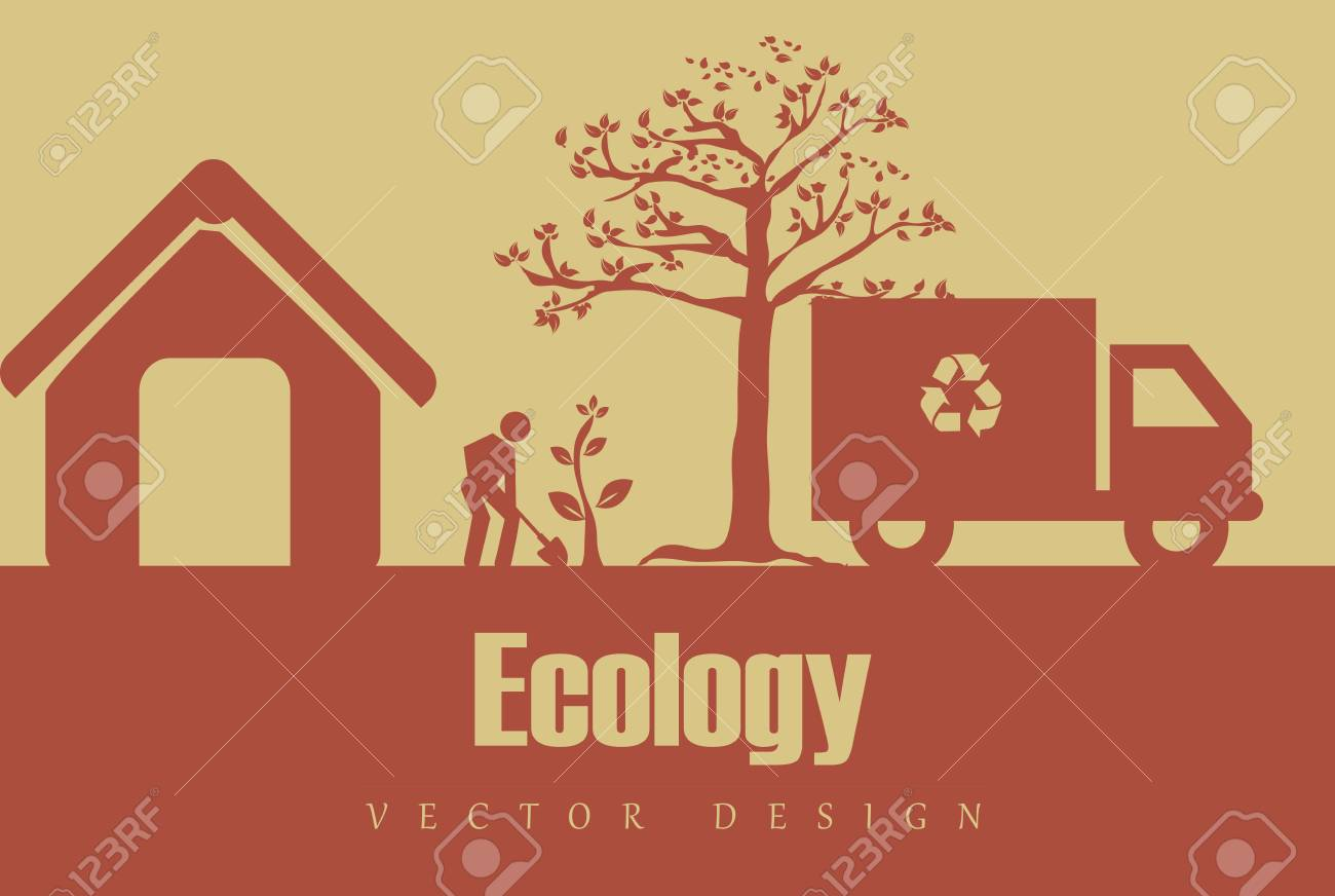 eco design over pink  background illustration Stock Vector - 24963578