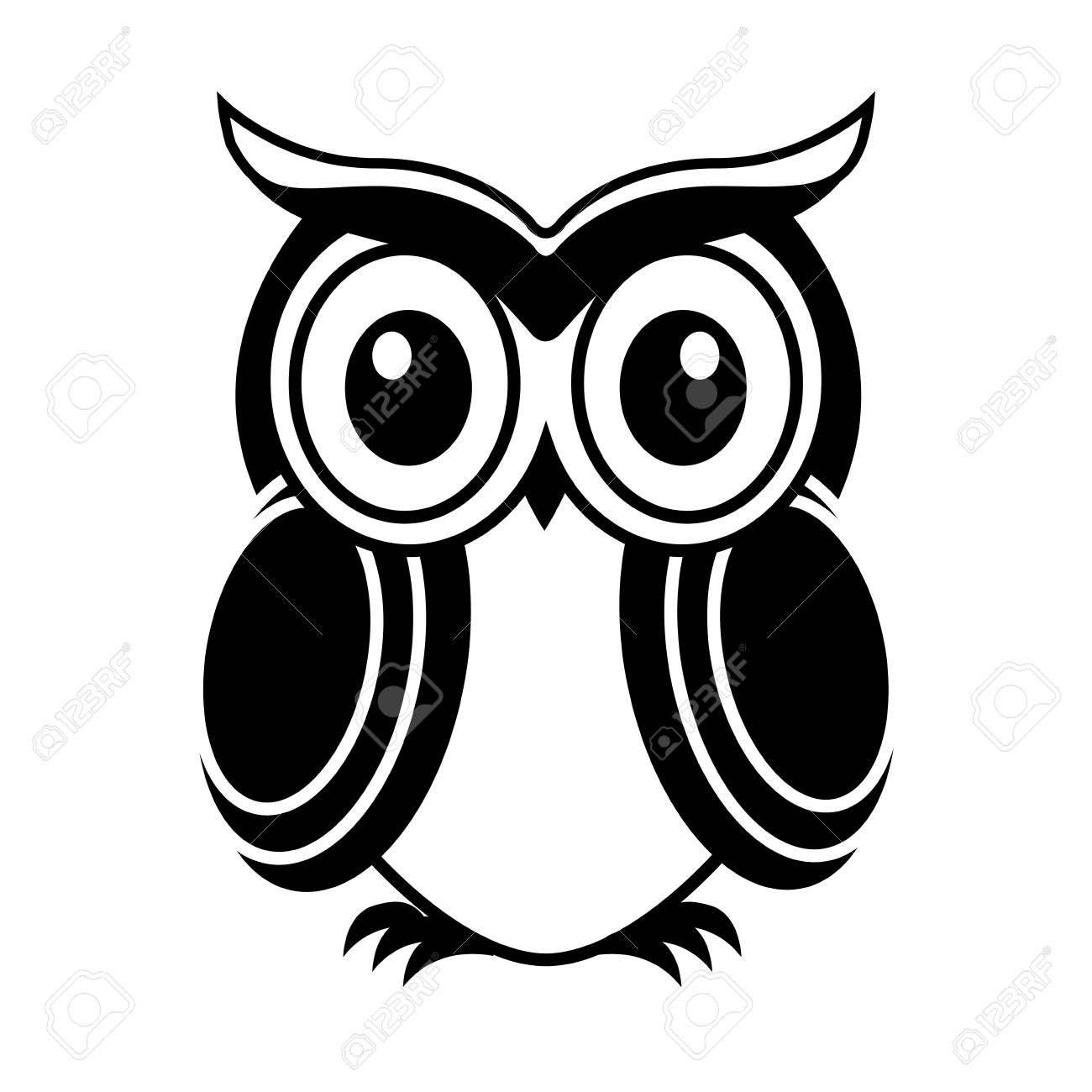 Owl Design Over White Background Vector Illustration Royalty Free