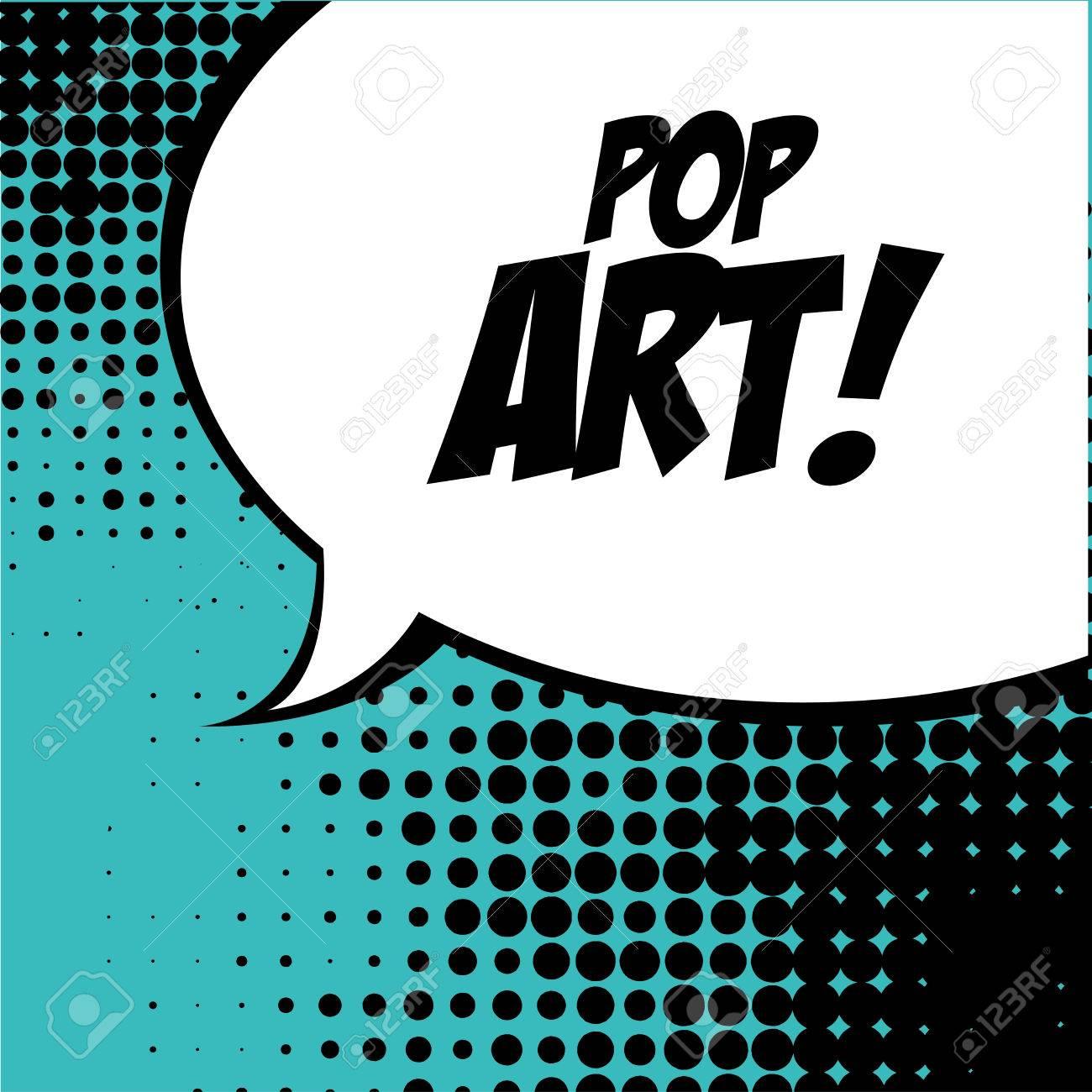 pop art   over   blue background vector illustration Stock Vector - 26379589
