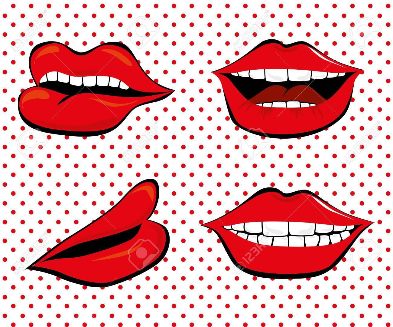 pop art   over dotted   background vector illustration Stock Vector - 26379681
