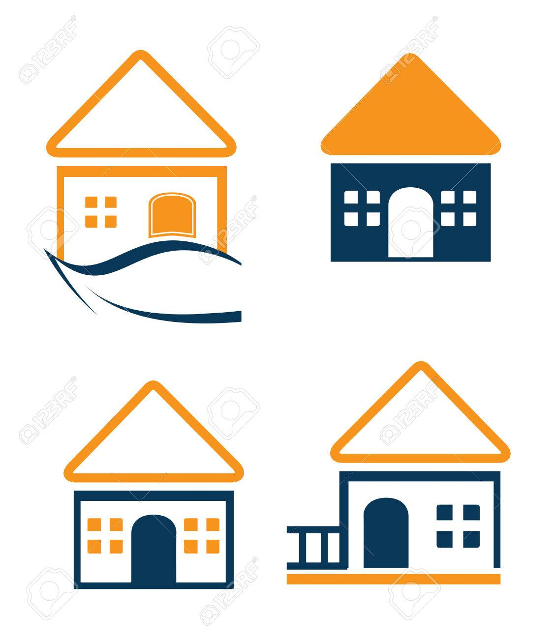 Home Design Over White Background, Vector Illustration Stock Vector    26728915