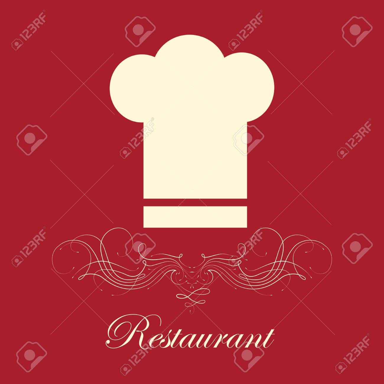 restaurant menu design over red background,vector illustration