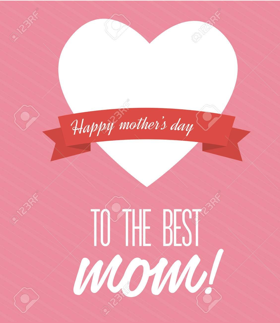 mothers day design over pink background vector illustration