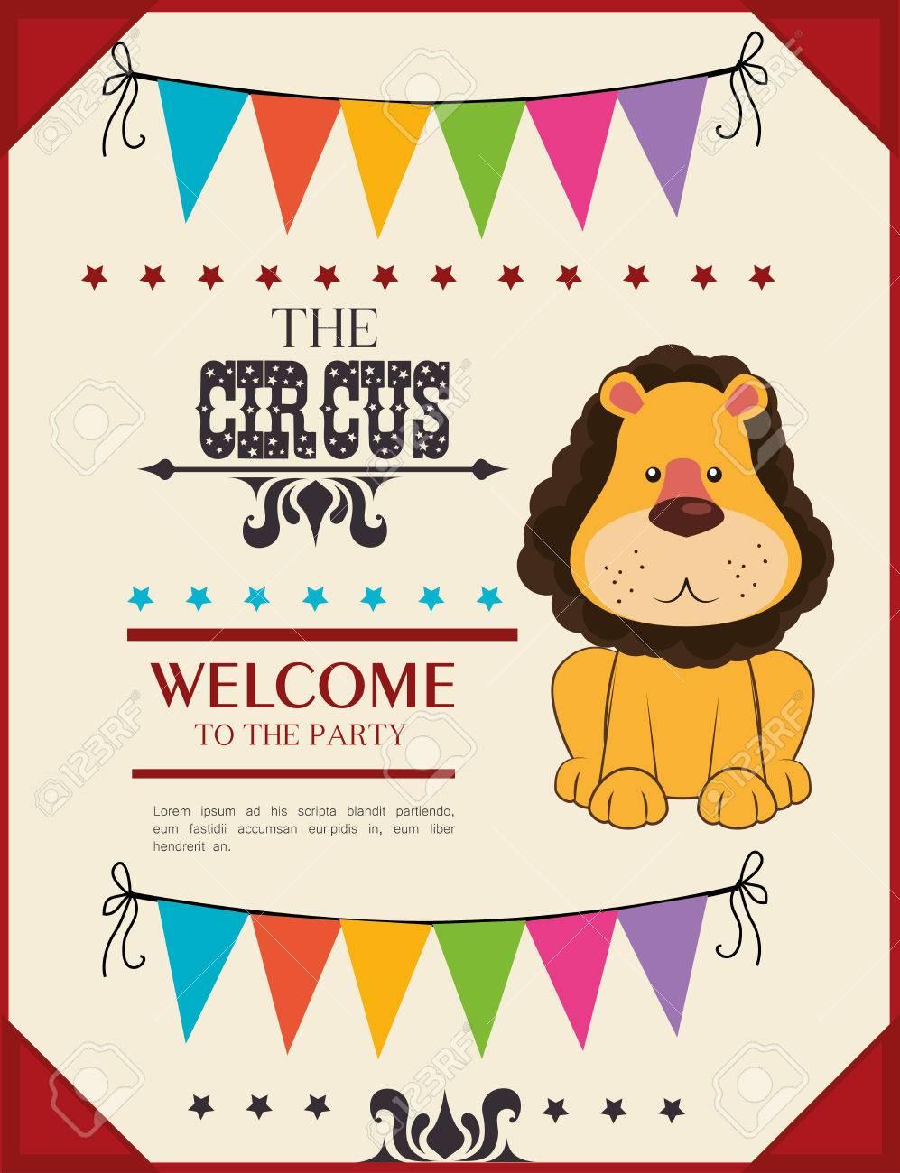 Circus card design, vector illustration Stock Vector - 27133518