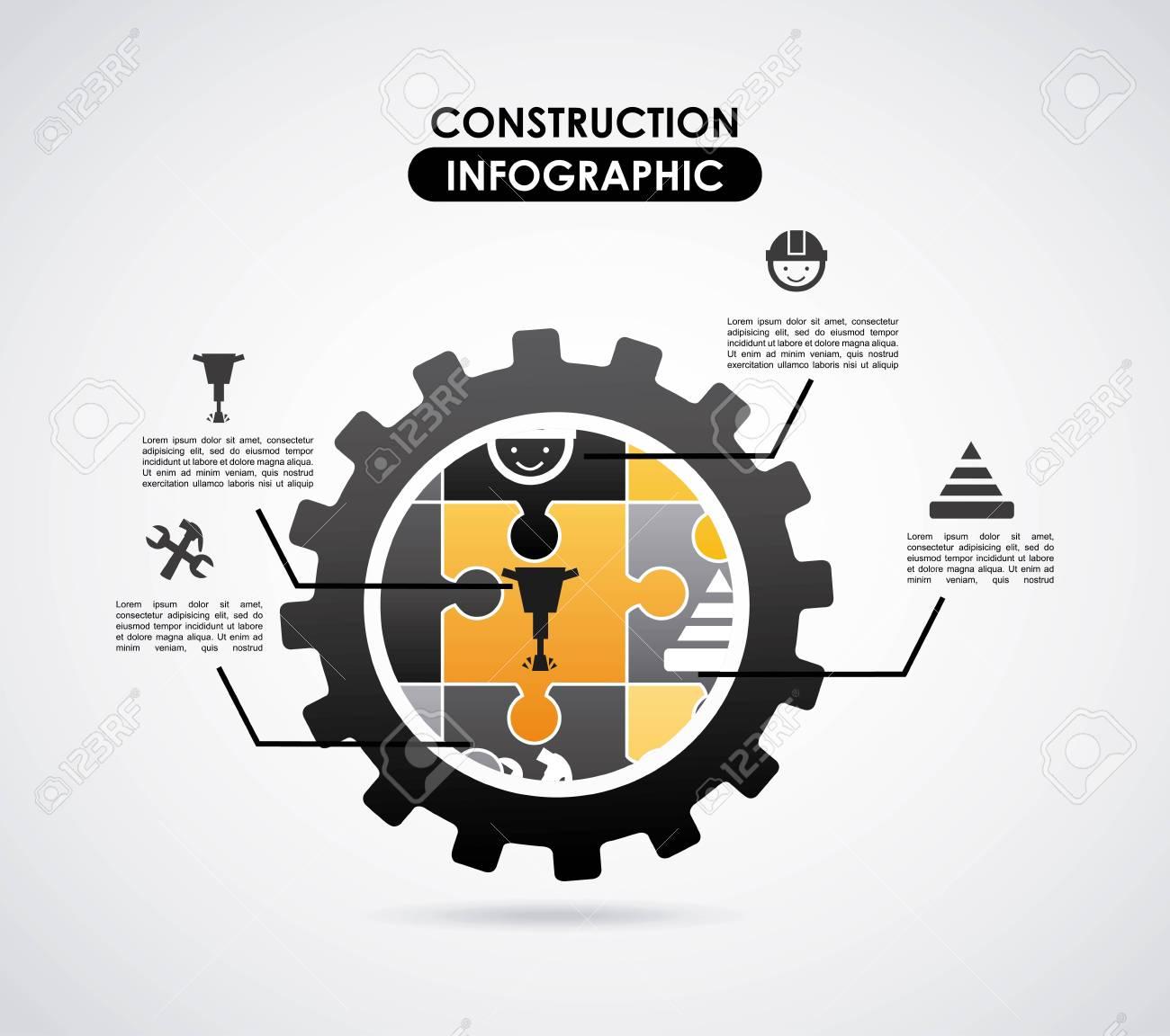Construction design over gray  background, vector illustration Stock Vector - 27489589