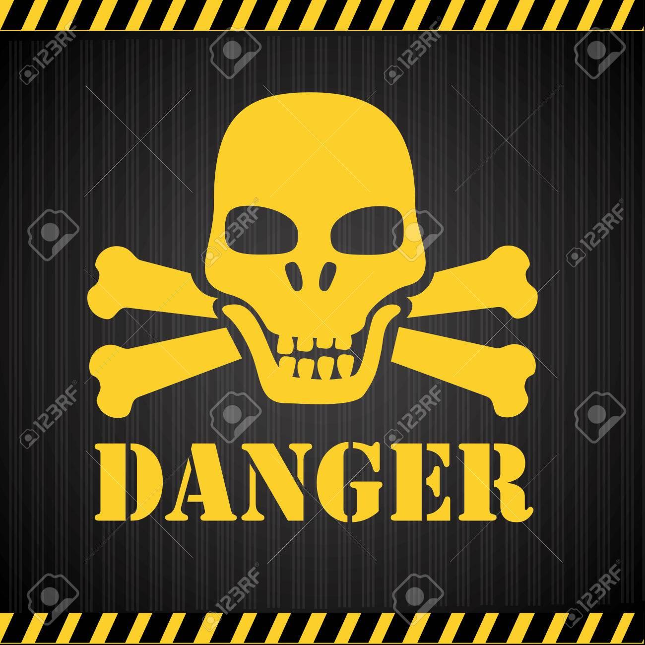Danger design over black background, vector illustration Stock Vector - 28548705