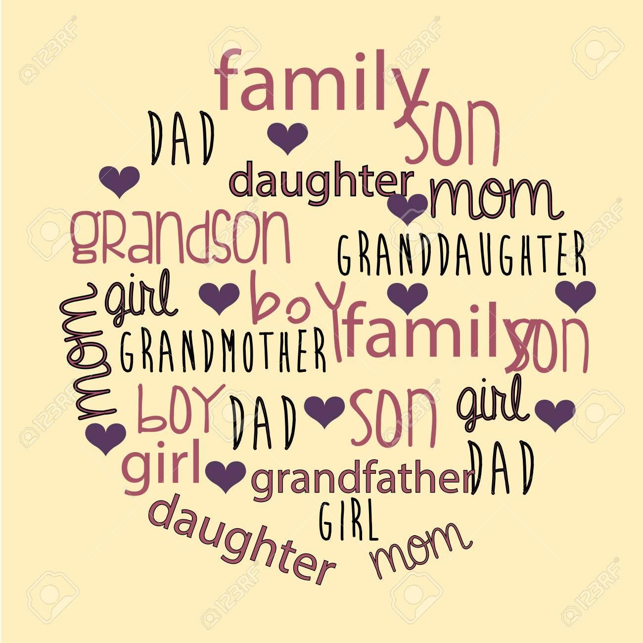 Family design over beige background, vector illustration - 28548783