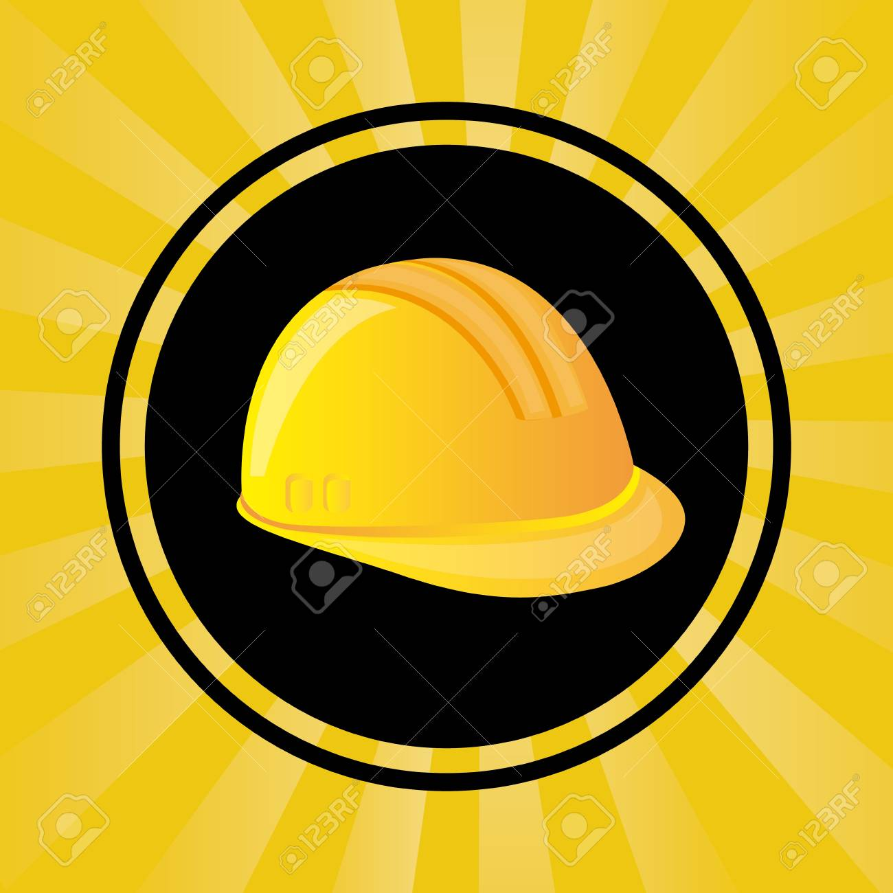 under construction design over yellow background vector illustration Stock Vector - 29761869