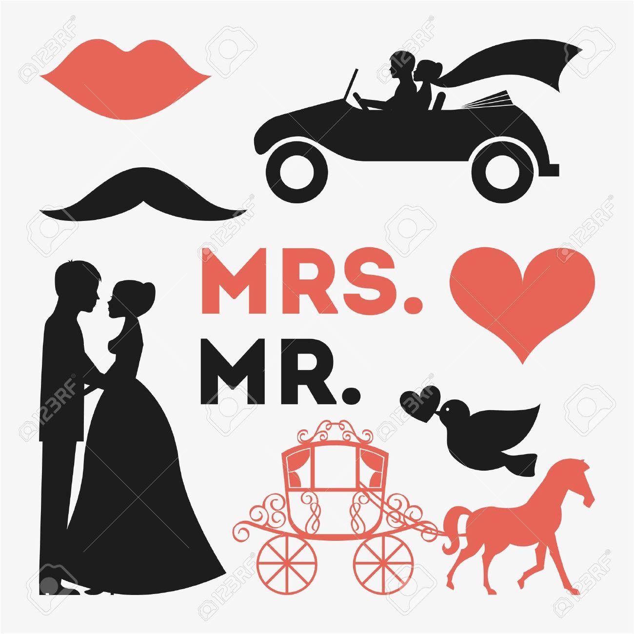 白い背景ベクトル イラスト デザインの結婚式 ロイヤリティフリー