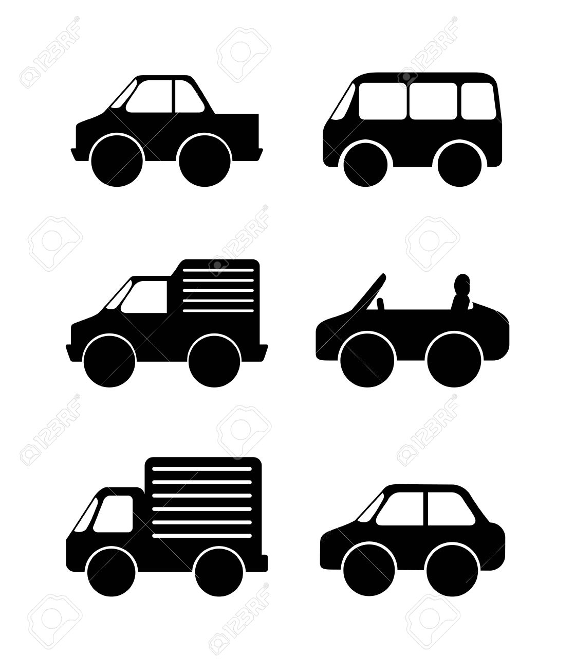 Car Graphic Design Vector Illustration Royalty Free Cliparts - Car graphics design