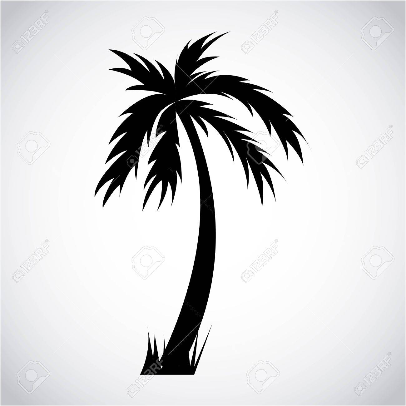 tree palm graphic design , vector illustration - 32484061