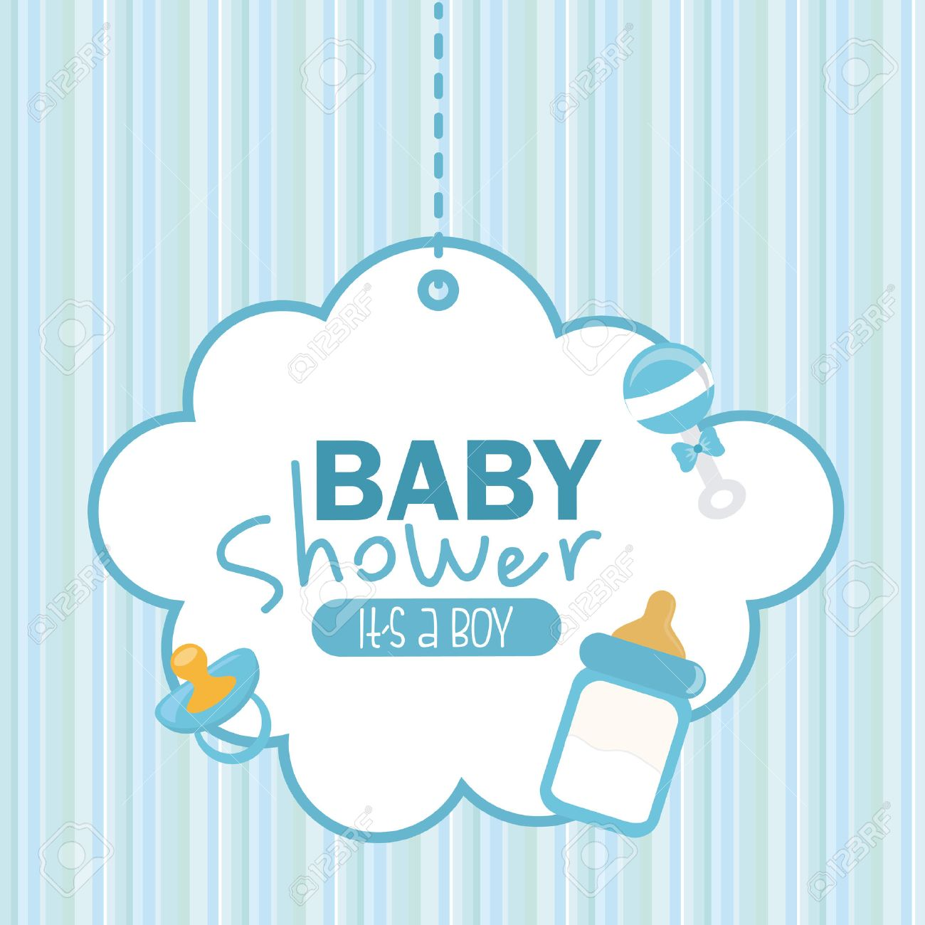 Group Of Baby Shower Vector
