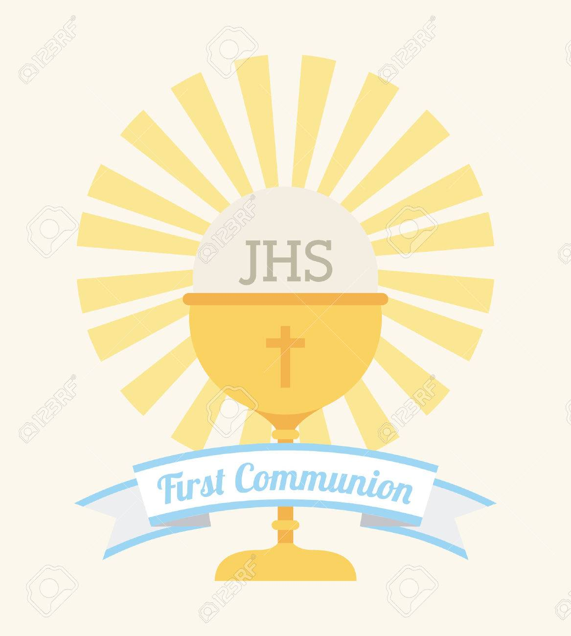 first communion design vector illustration eps10 graphic royalty