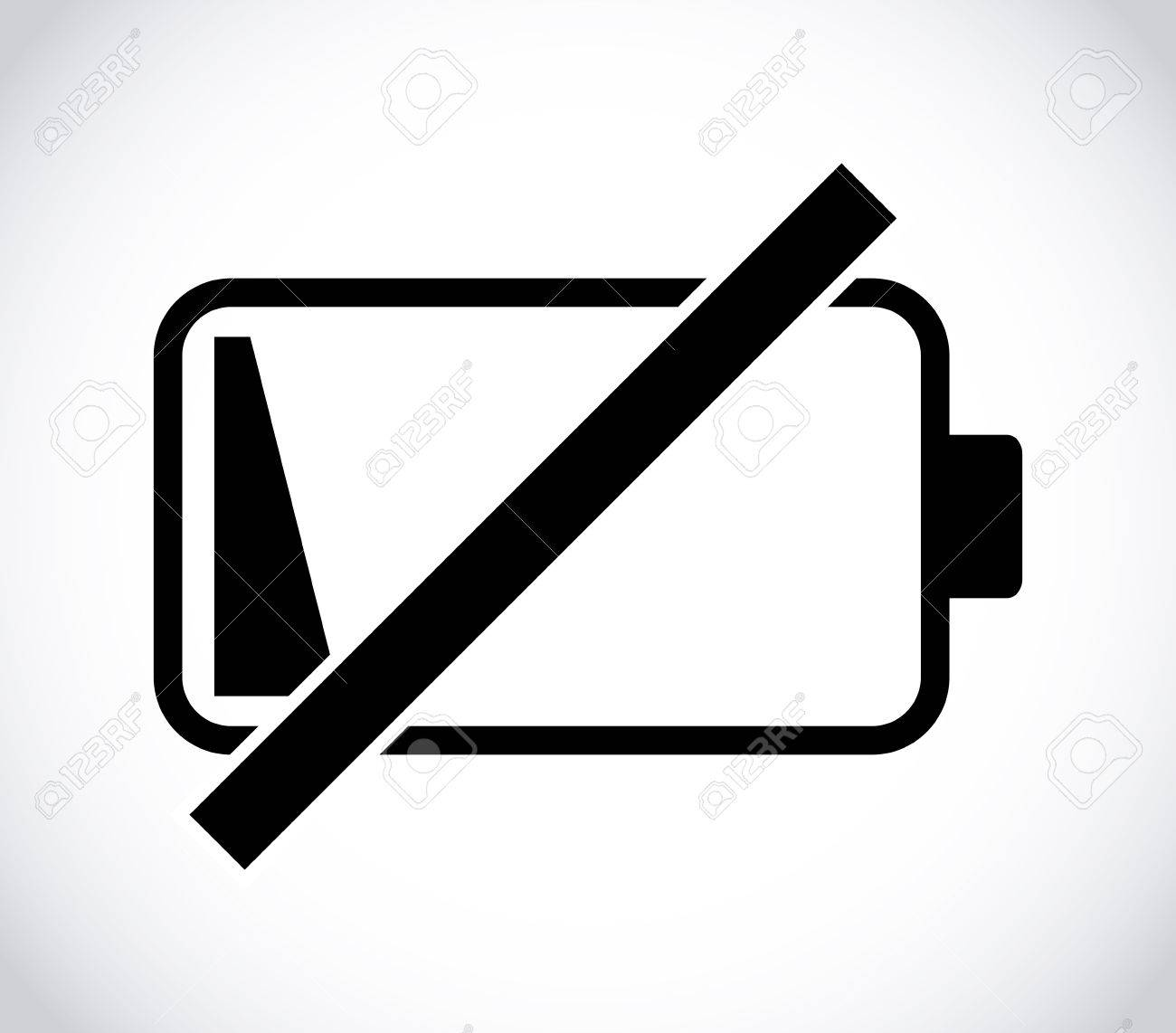 Empty Battery Icon Design Royalty Free Cliparts, Vectors, And Stock ...