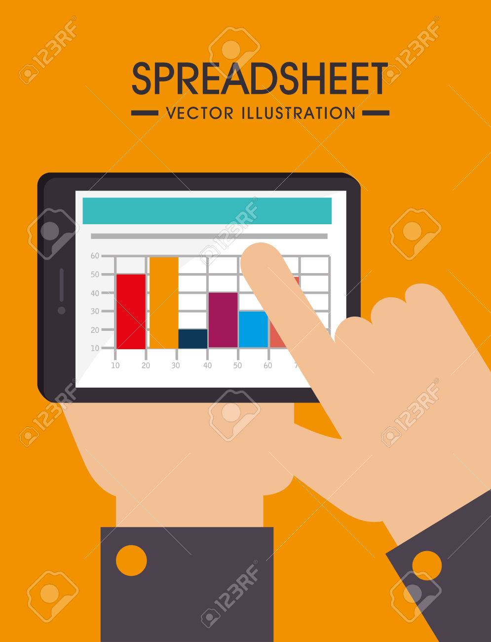 Spreadsheet design illustration
