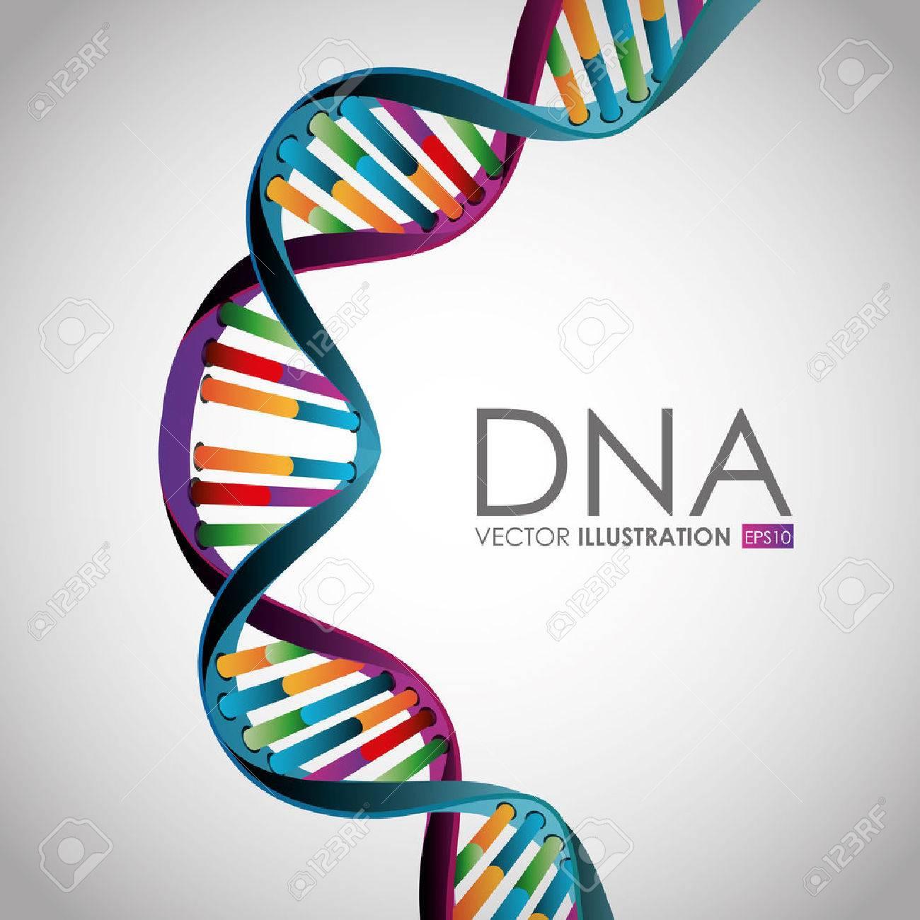 DNA design over white background,vector illustration. - 37512367