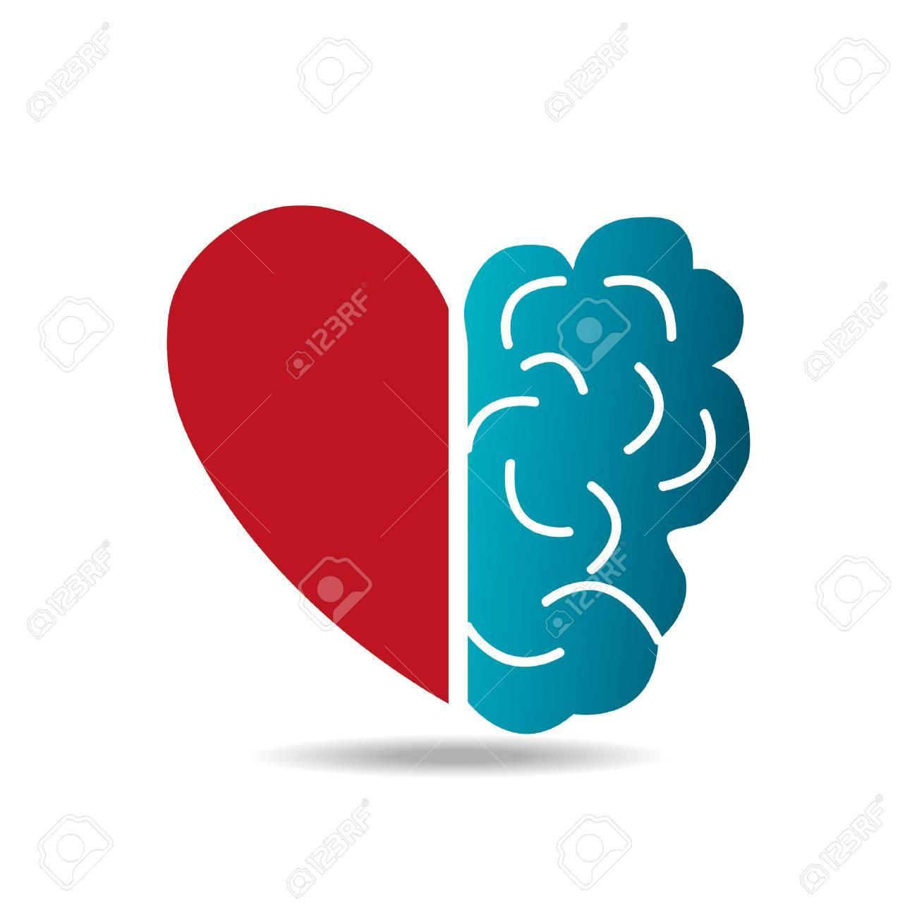 Brain design over white background, vector illustration. - 38043410