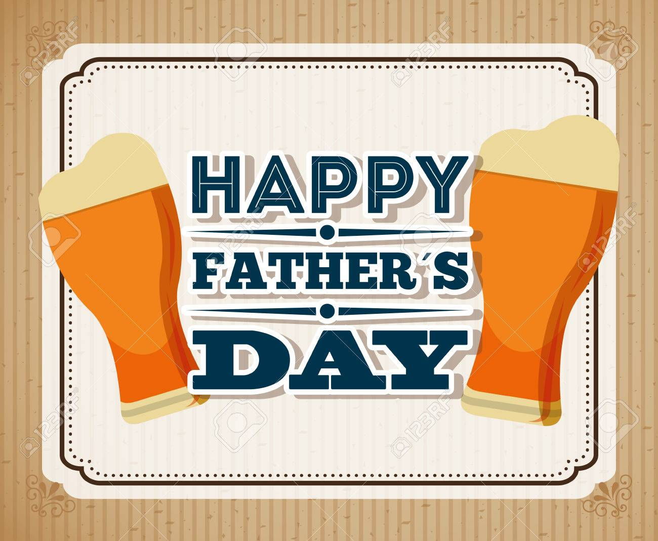 Happy Fathers Day Design Vector Illustration Eps10 Graphic Royalty