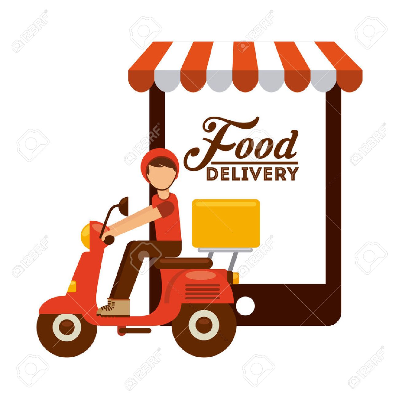Food Delivery Design Royalty Free Cliparts Vectors And Stock