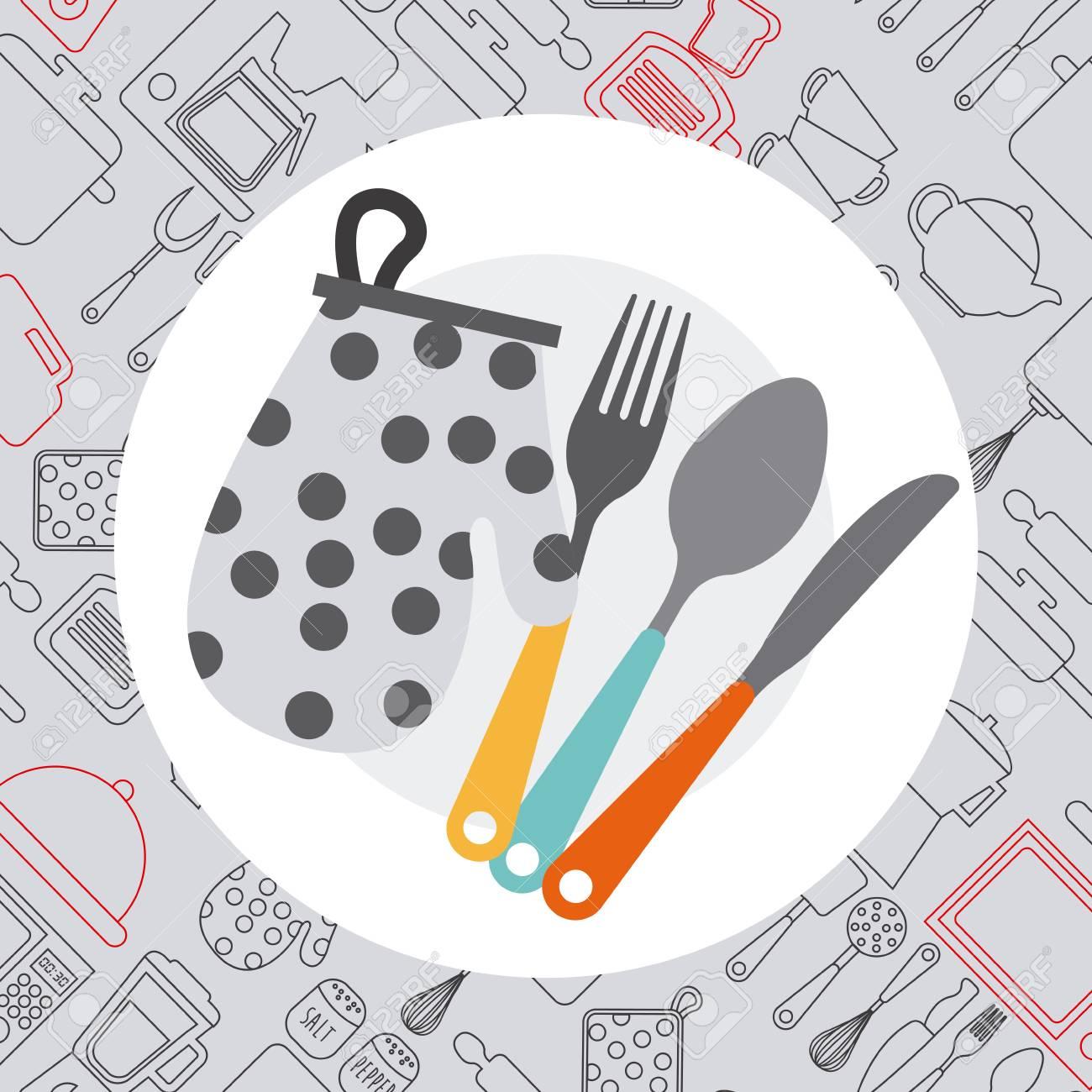 cucina concetto di design, illustrazione vettoriale grafico clipart