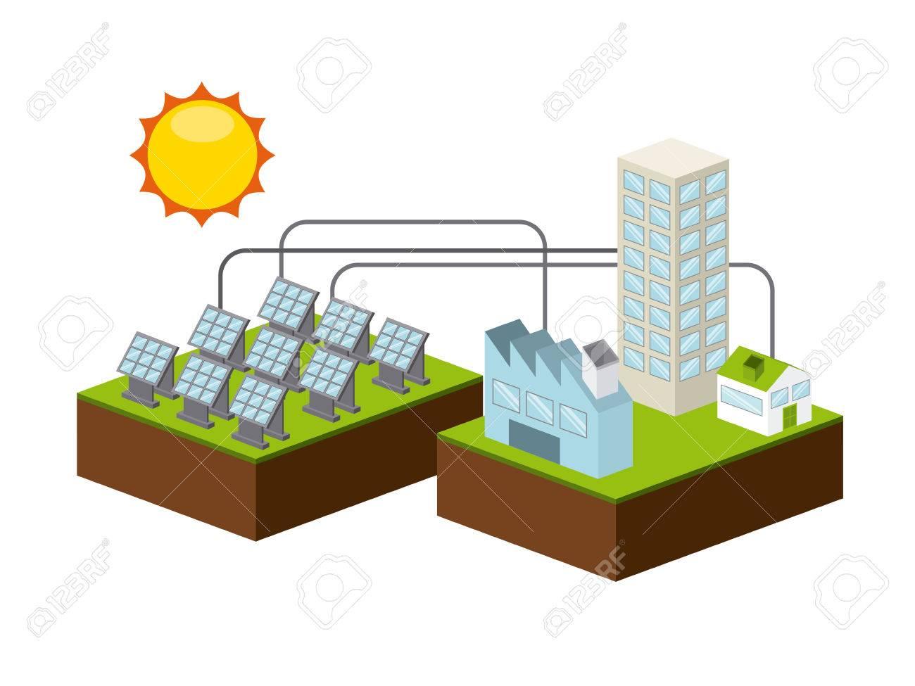 solar energy design, vector illustration - 41702059