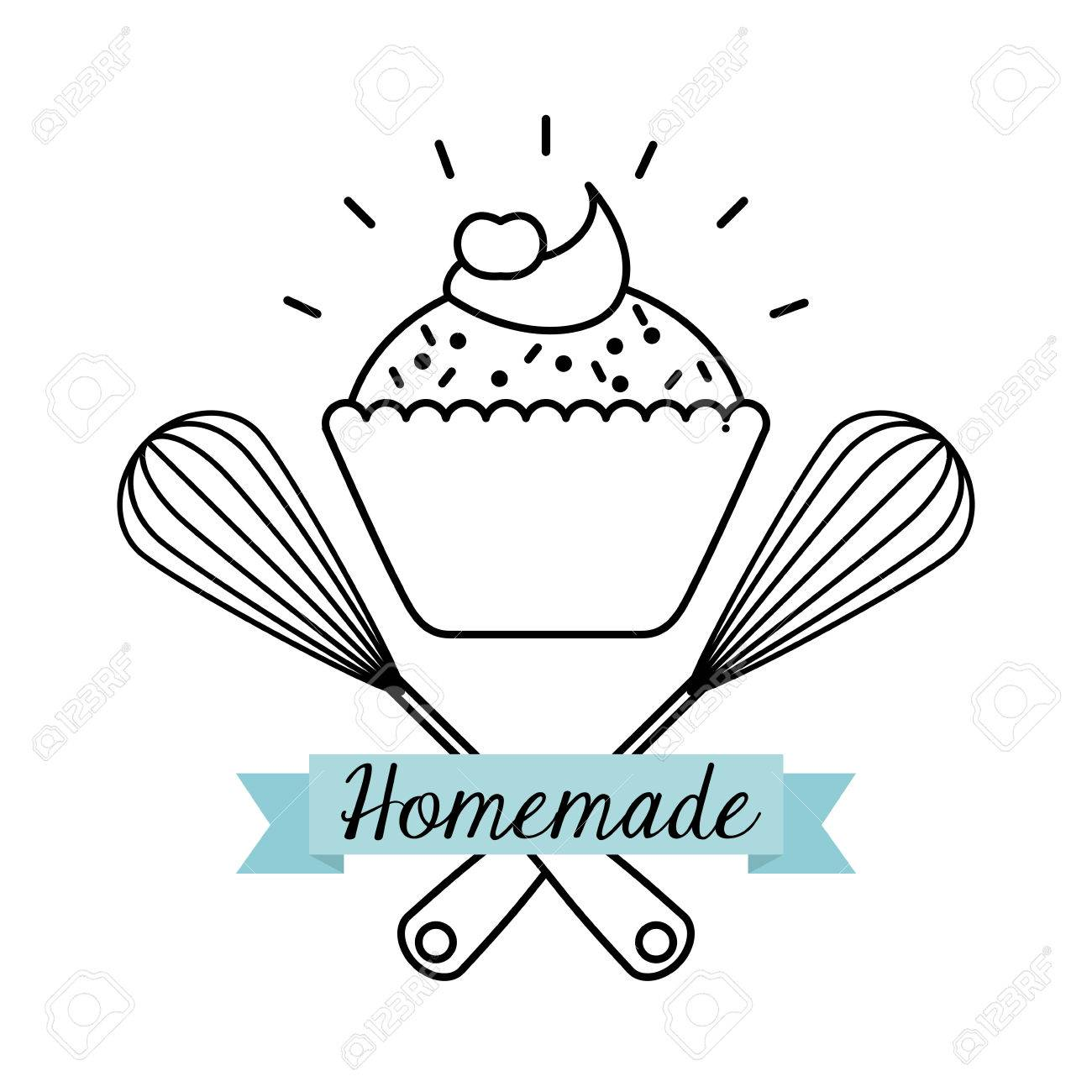 Homemade Food Design Vector Illustration Graphic Royalty Free