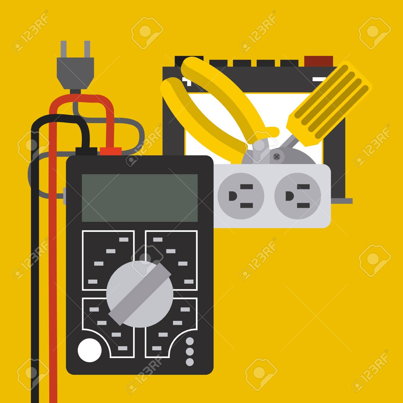 Electricity Service Design, Vector Illustration Graphic Royalty Free ...