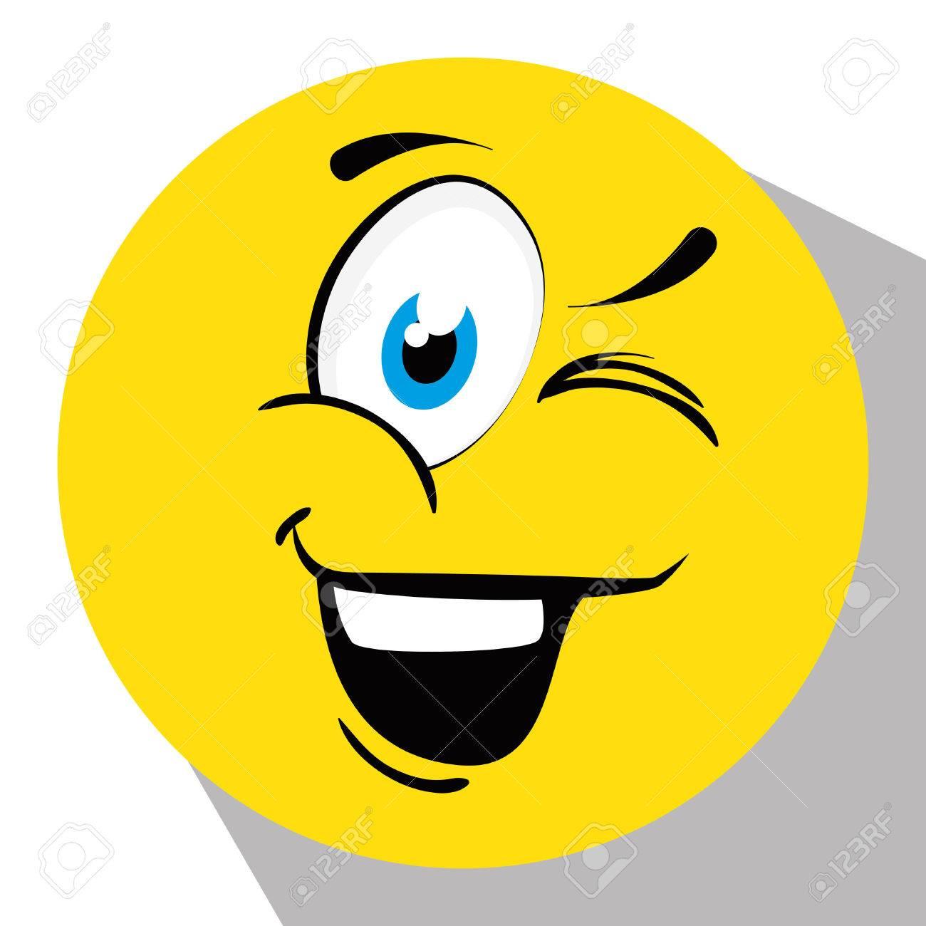 Emoticone Drole de bande dessinée d'émoticône drôle, illustration graphique. clip