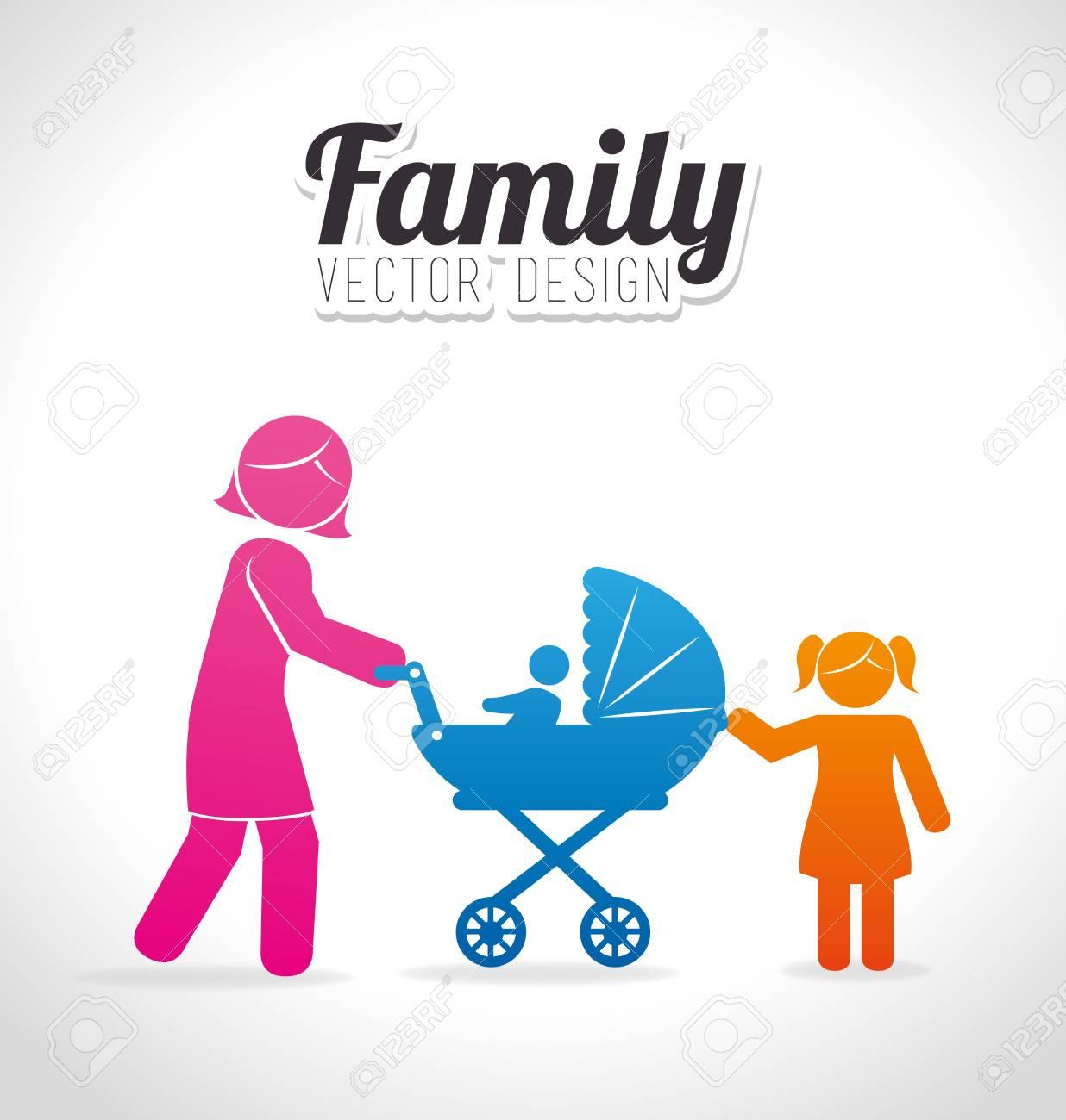 Lunità Della Famiglia Graphic Design Illustrazione Vettoriale